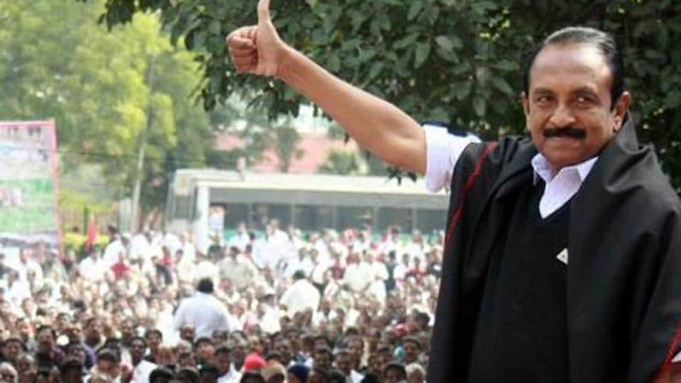 Vaiko's candidature is sponsored by the opposition DMK, which is poised to win three of the six Rajya Sabha seats for which polling is slated on July 18.