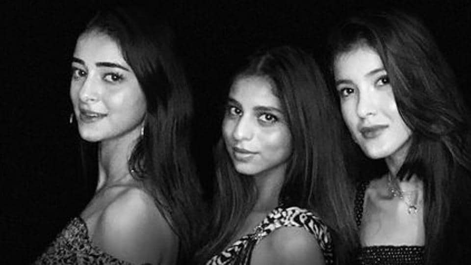 Ananya Panday, Suhana Khan and Shanaya Kapoor have been friends from their childhood.