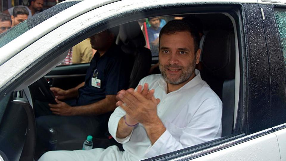 Congress leader Rahul Gandhi Wednesday reached Amethi, his first visit after losing the parliamentary constituency to Union minister Smriti Irani in this general election. He is likely to visit some villages too, party district spokesperson Anil Singh said. (ANI)