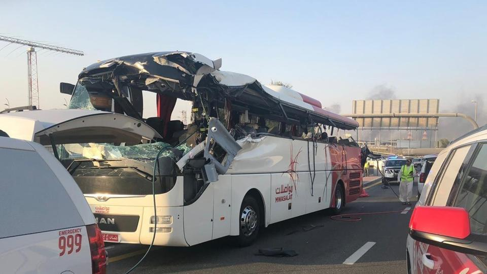 Twelve Indians were among the 17 people killed in the horrific bus accident on Jun 7 when the bus, coming from Oman, wrongly entered a road not designated for buses and crashed into a height barrier