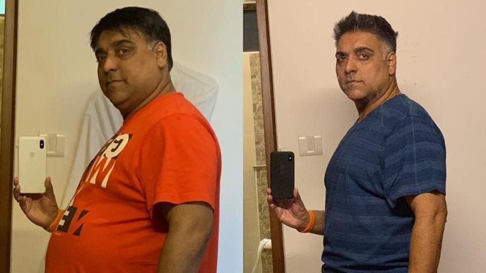 Ram Kapoor before and after his weight loss.
