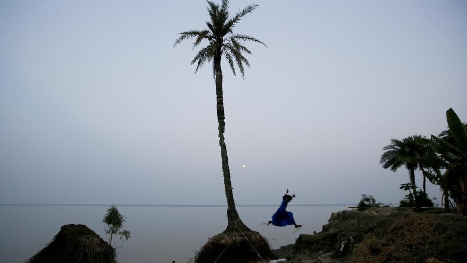 Ghoramara Island, part of the Sundarbans delta on the Bay of Bengal