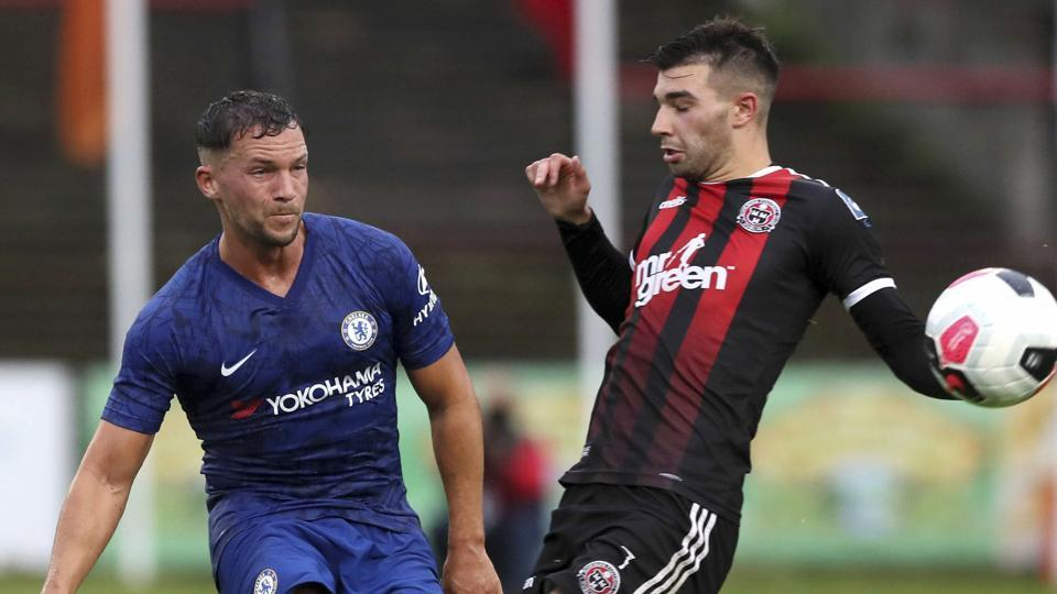Chelsea's Danny Drinkwater, left, in action during a pre-season friendly match against Bohenians.