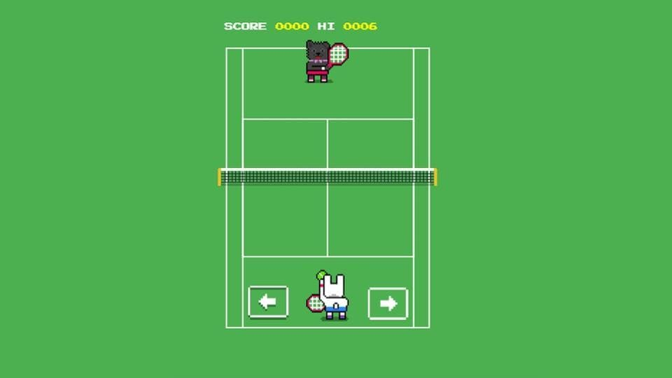 """Search """"Wimbledon scores"""" on Google to play the latest game."""