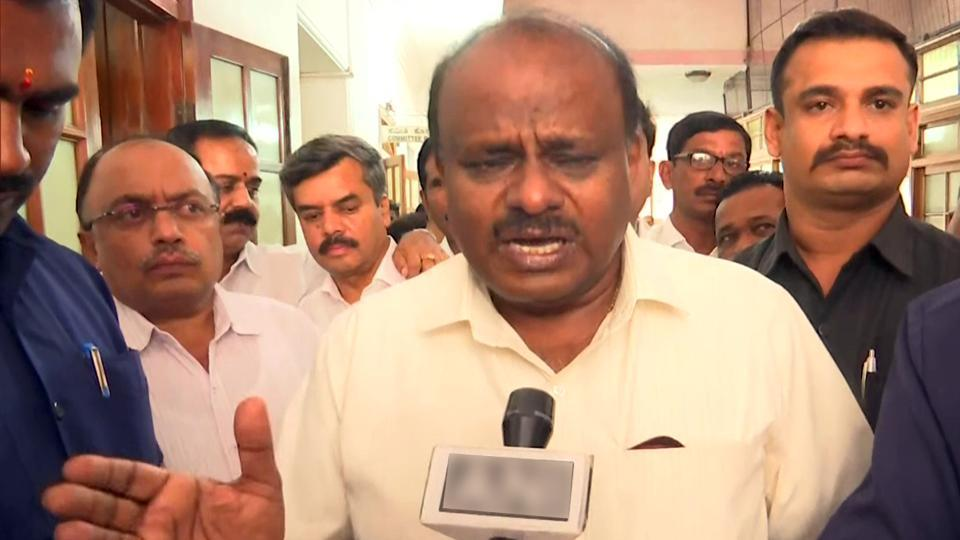 Karnataka Chief Minister H D Kumaraswamy said he would seek a trust vote and asked Speaker KR Ramesh Kumar to fix the time for it. This came soon after the Supreme Court posted the rebel MLAs' case for hearing on July 16 and banned the Speaker from deciding on disqualification or resignations till then. (ANI)