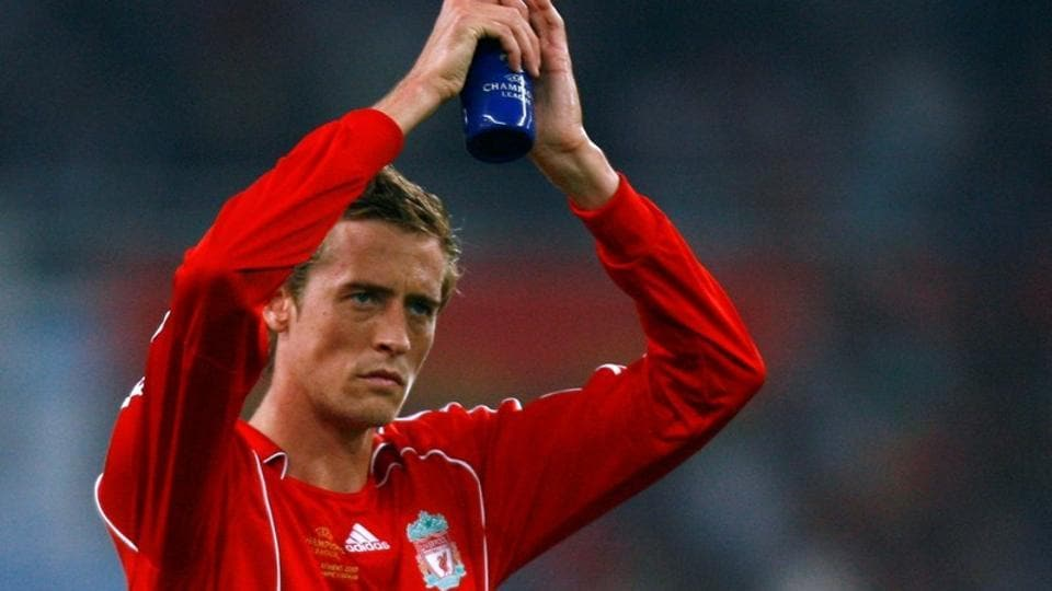 FILE PHOTO of Peter Crouch playing for Liverpool.