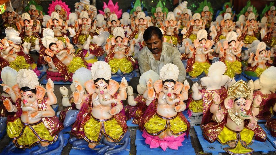 mumbai,ganeshotsav,ganesh idols sellers