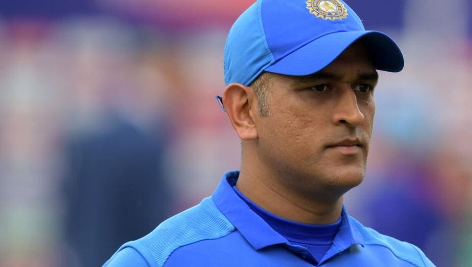 India's Mahendra Singh Dhoni reacts at the end of play.