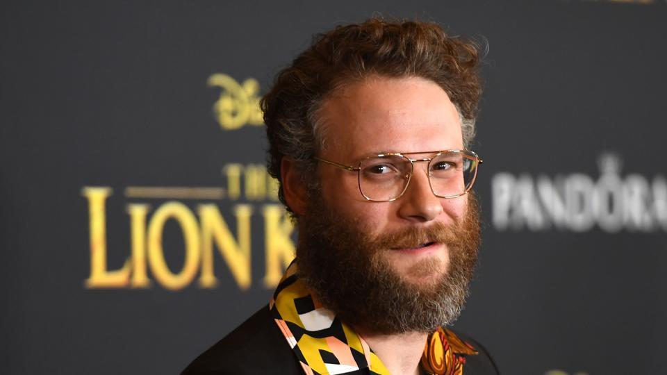 Seth Rogen arrives for the world premiere of Disney's The Lion King at the Dolby theatre.