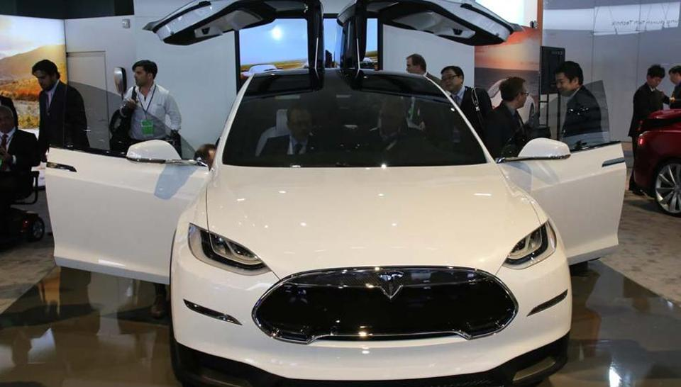 Tesla Model X: A crossover sport utility vehicle is available with 4-wheel drive, electric only and has a range of 210 miles (340km) between charges.