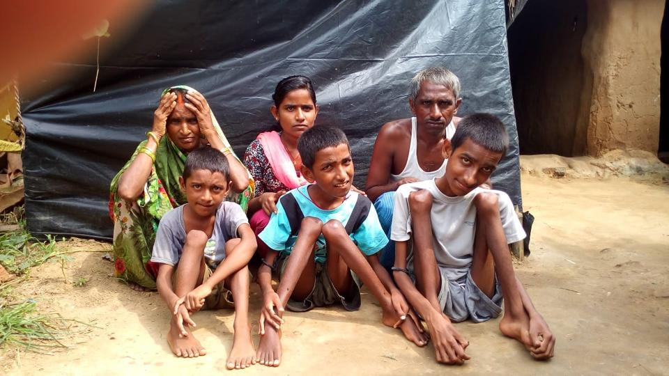 The farmer lives in a thatched hutment in Bihar's Sasaram town along with his wife, daughter and the three physically impaired sons