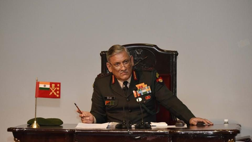"Chief of Army General Bipin Rawat told reporters that the Chinese civilians who entered the Demchok area on July 6 to oppose the birthday celebration of Dalai Lama were ""accompanied"" by Chinese soldiers."