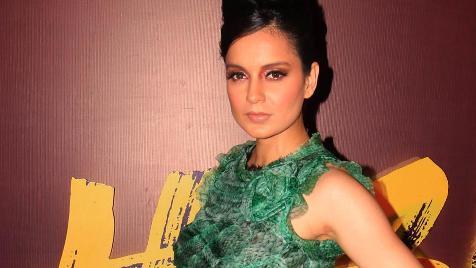 Kangana Ranaut poses during the song launch event for her film Judgementall Hai Kya.