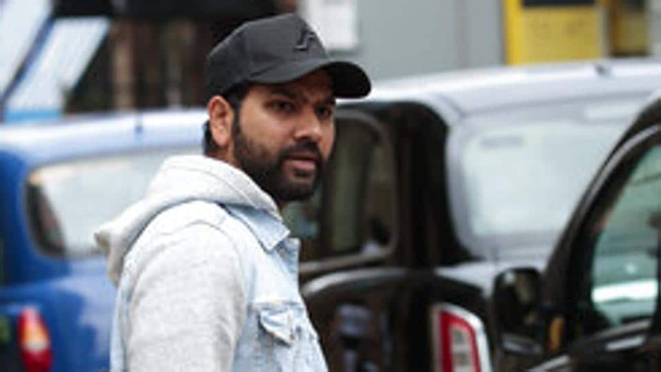 India cricketer Rohit Sharma leaves the team hotel in Manchester.