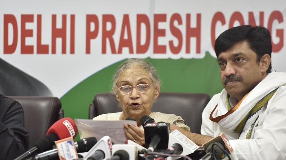 Three working presidents, including Rajesh Lilothia (right), wrote a letter to Delhi unit chief Sheila Dikshit on July 12.