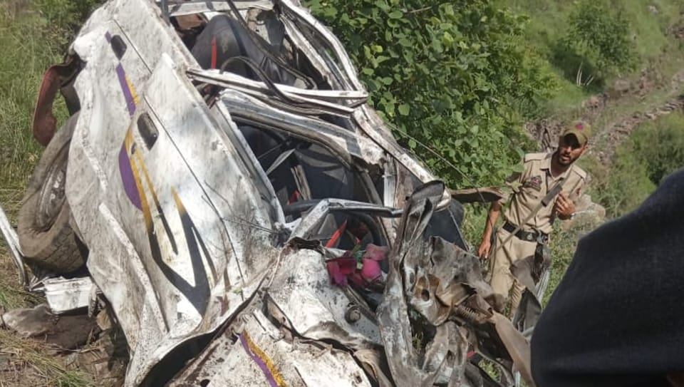 The cab with eight passengers on board plunged into a gorge on Alinbass-Ukhral link road in Ramsu area of Ramban district on Saturday afternoon