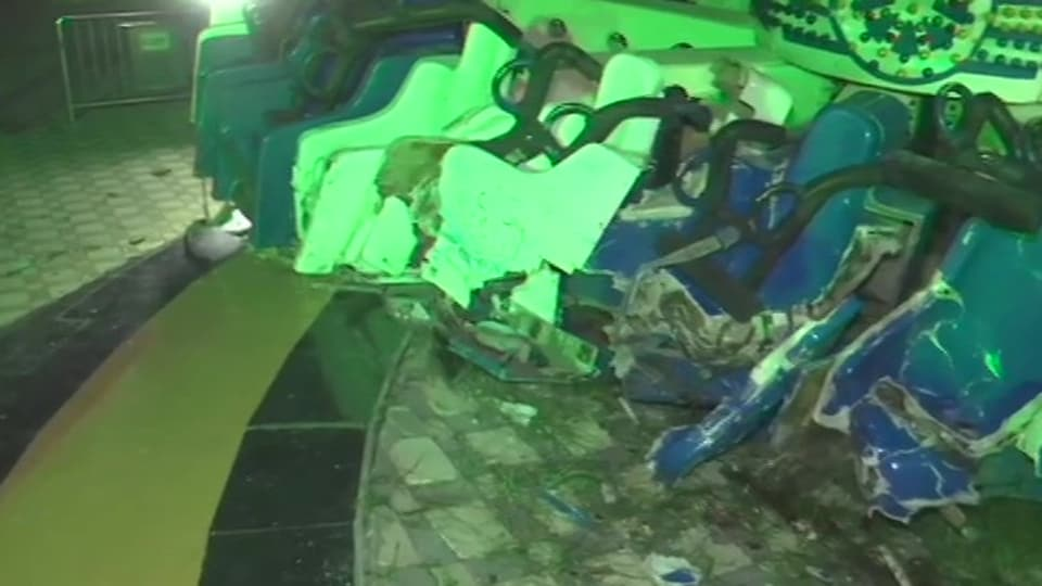Two people died and over 26 people were injured after a joyride at an adventure park in Kankaria area broke down.
