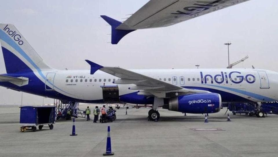 Four passengers suffered minor injuries after buses of IndiGo and SpiceJet airlines collided at Delhi's Indira Gandhi International Airport's (IGIA's) Terminal-2 (T-2) on Saturday evening.