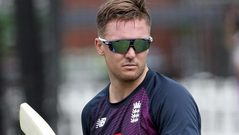 England's Jason Roy attends a training session ahead of the Cricket World Cup final match