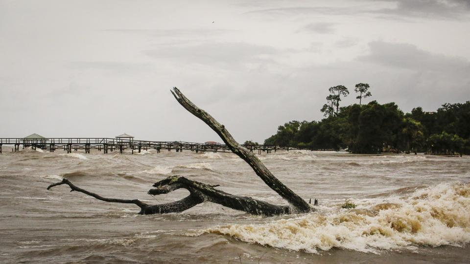 Storm water surges near Lake Pontchartrain, after Tropical Storm Barry makes landfall in Lewisburg, Louisiana U.S.