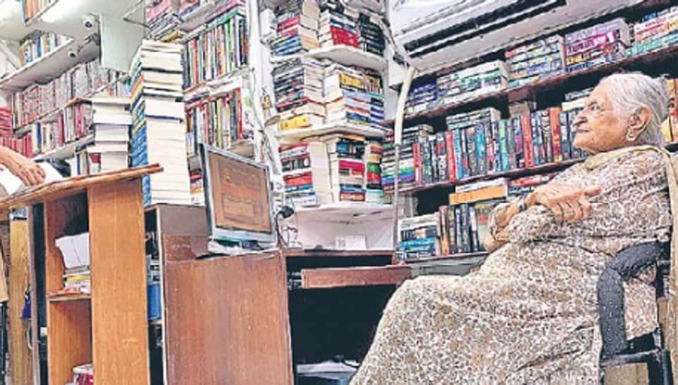 The Bahrisons Booksellers was founded by the late husband of Bhag Bahri Malhotra (in salwar-kameez) in 1953.