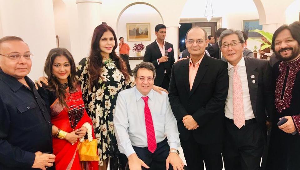 MK Sanghi (extreme left), Nisha JamVwal (third from left), KRS Jamwal, Sanjay Bhatia, CG Michio Harada and Roop Kumar Rathod.