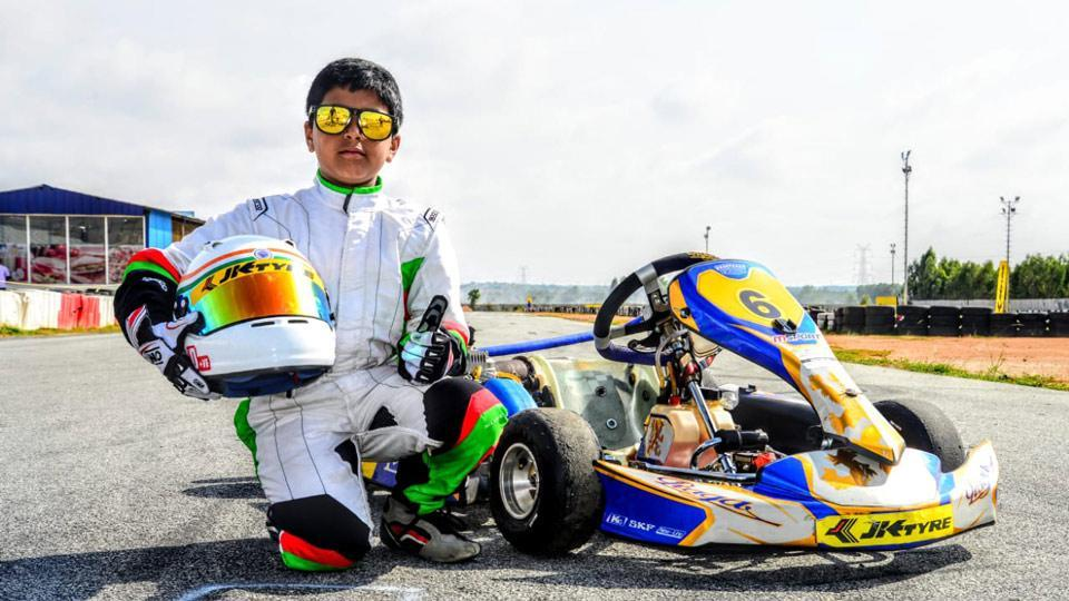 Arafath Sheikh is gaining experience under the guidance of MMS on the Praga Karts.