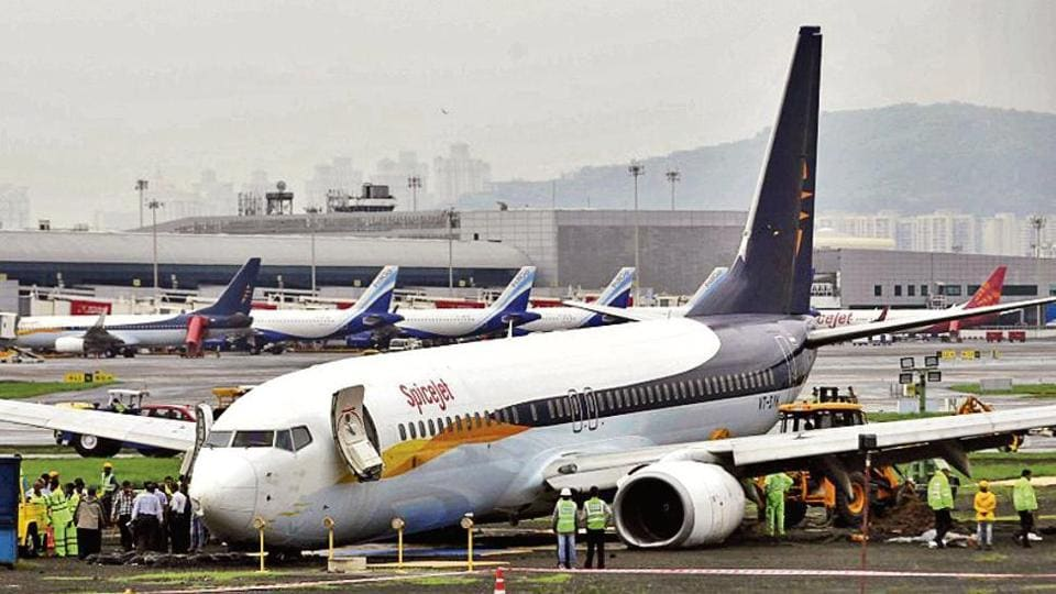 A SpiceJet aircraft affected air traffic for four days after it overshot the runway while landing in Mumbai.