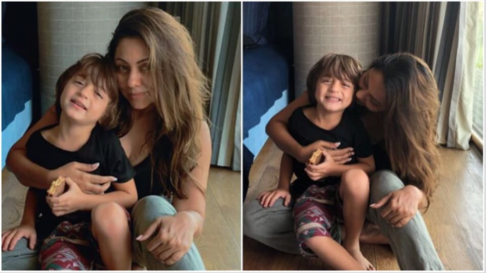 Gauri Khan's takes son AbRam to church, poses with him after Sunday mass