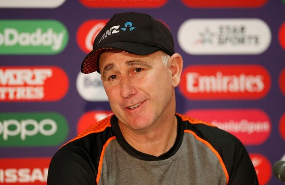 New Zealand head coach Gary Stead during a press conference.