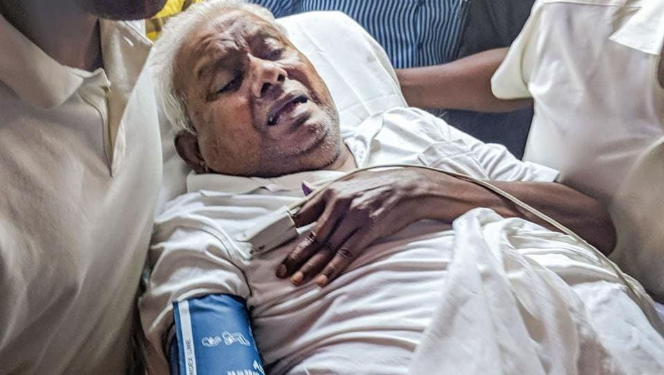 The founder of South Indian food chain 'Saravana Bhavan' P Rajagopal arrives to surrender before a sessions court to serve a life term, in Chennai, Tuesday, July 9, 2019.