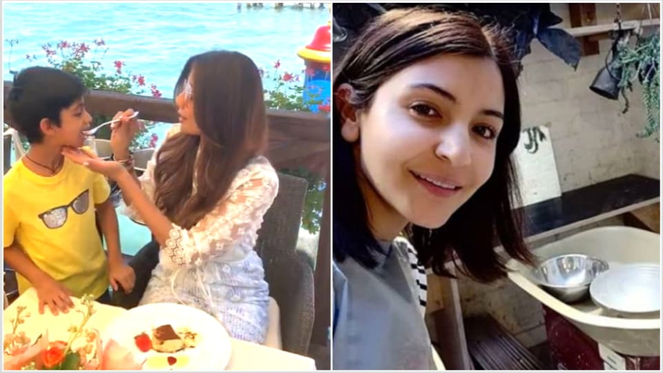 Shilpa Shetty with her son in Venice and Anushka Sharma at her pottery class in London.