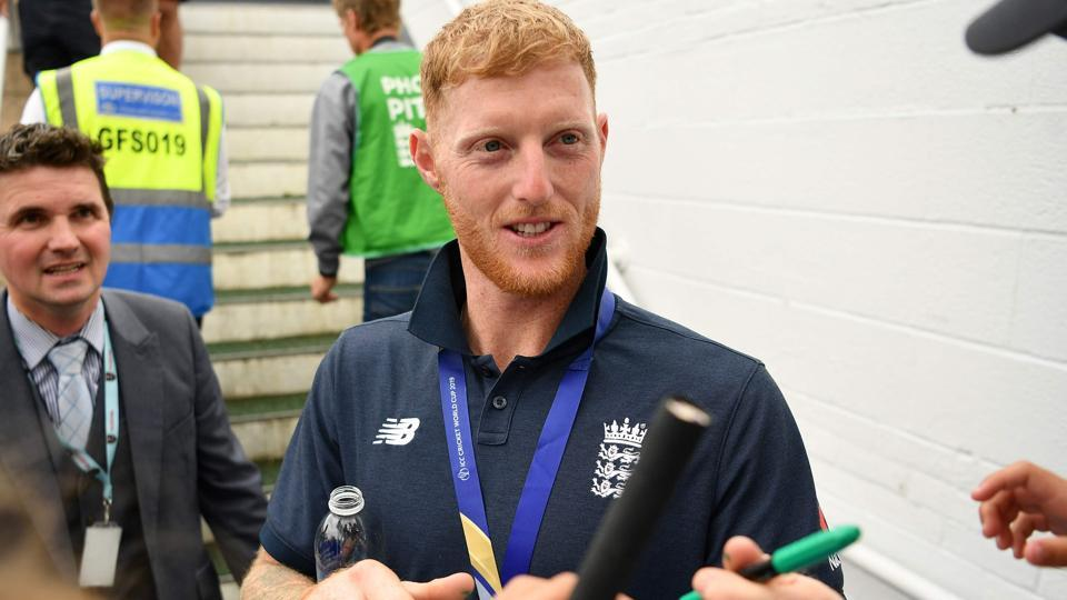 England's Ben Stokes attend a World Cup victory event at The Oval.