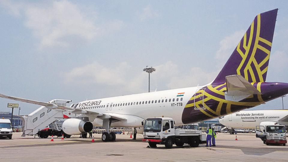 The Directorate General of Civil Aviation (DGCA), the aviation regulator, had on July 5 asked airlines in India to carry enough fuel to fly to two alternative destinations, factoring in adverse weather conditions in some parts of the country.  (HT File photo)