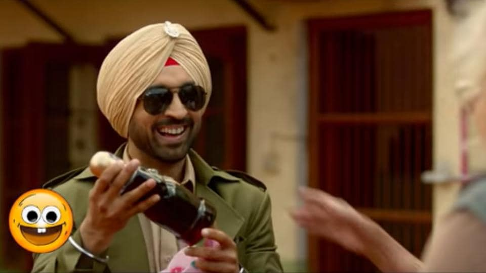 Diljit Dosanjh in a still from the song SipSip from Arjun Patiala.
