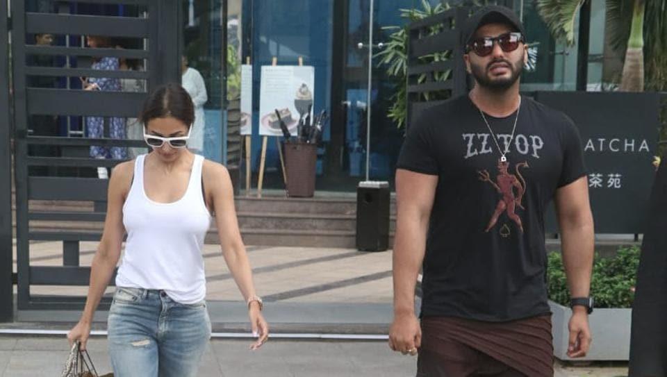 Malaika Arora and Arjun Kapoor in Mumbai.