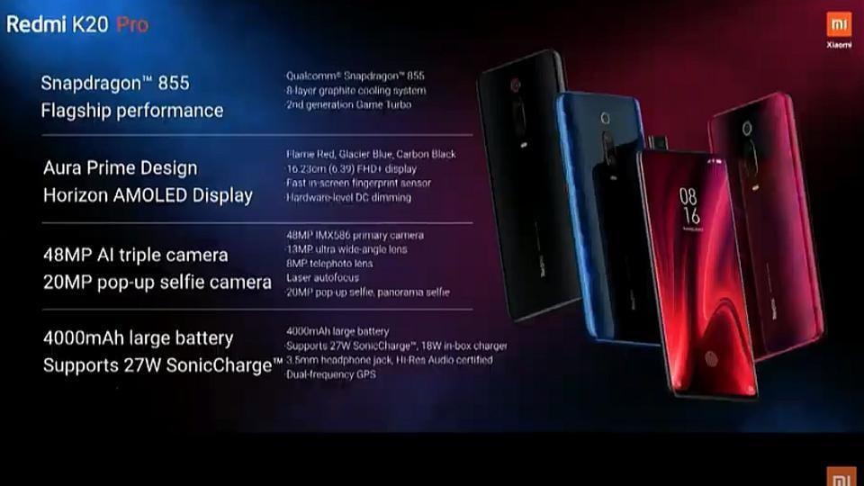 Xiaomi Redmi K20 Pro, Redmi K20 launched, check full specs