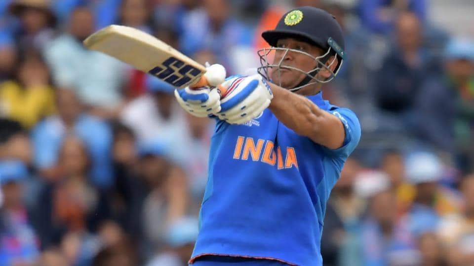 MS Dhoni in action during the ICC World Cup 2019.