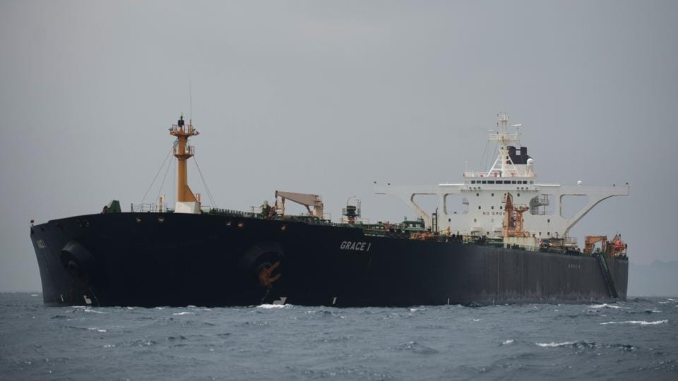 A small oil tanker from the United Arab Emirates travelling through the Strait of Hormuz entered Iranian waters