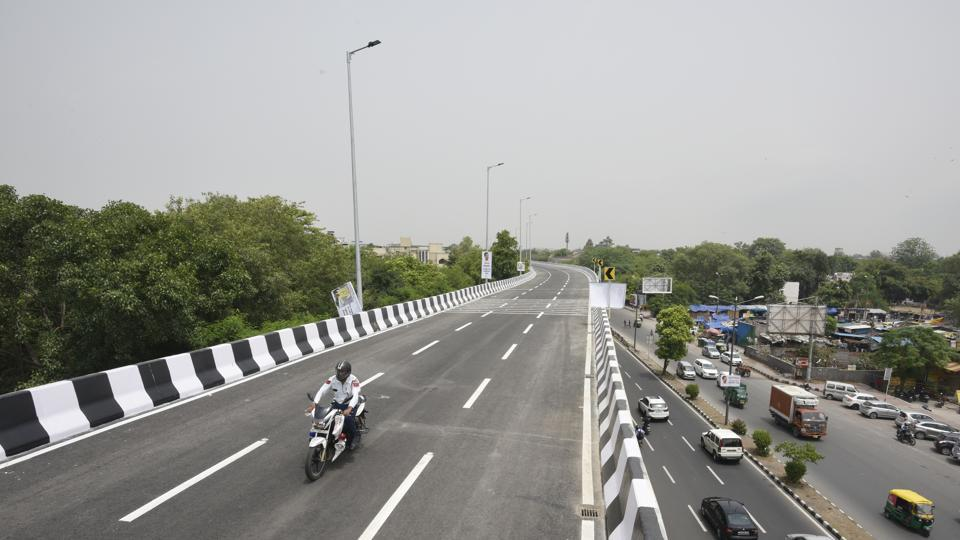 After a wait of five years, the new Rao Tula Ram (RTR) Marg flyover was inaugurated Tuesday