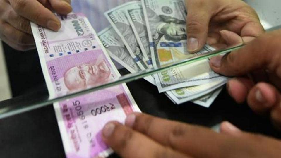 The rupee opened on a cautious note and fell 9 paise to 68.80 against the US dollar.