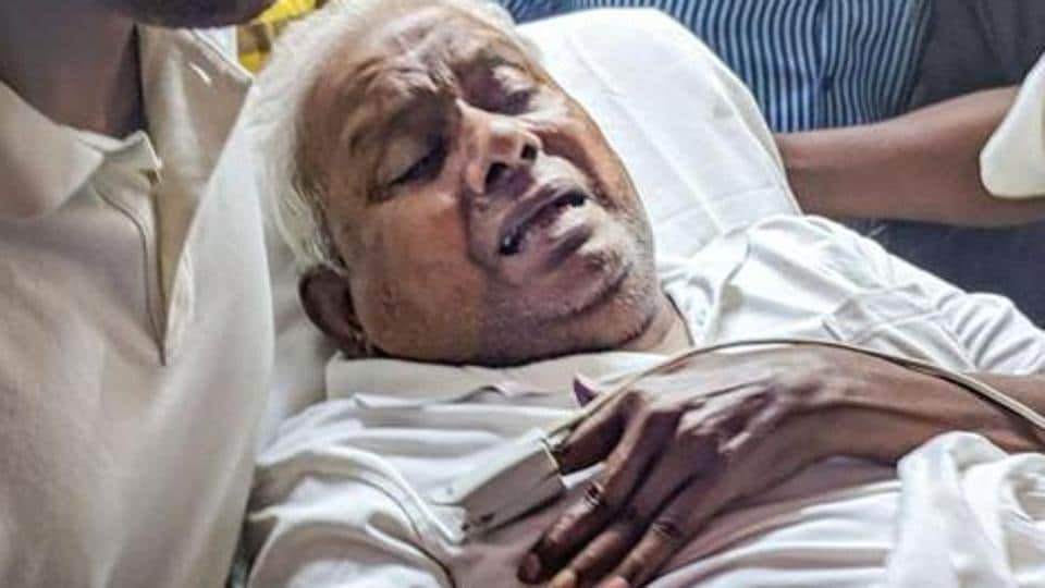 Hours after Rajagopal surrendered before an additional magistrates court in Chennai ,he was admitted in the prisoners ward at the hospital on July 9.