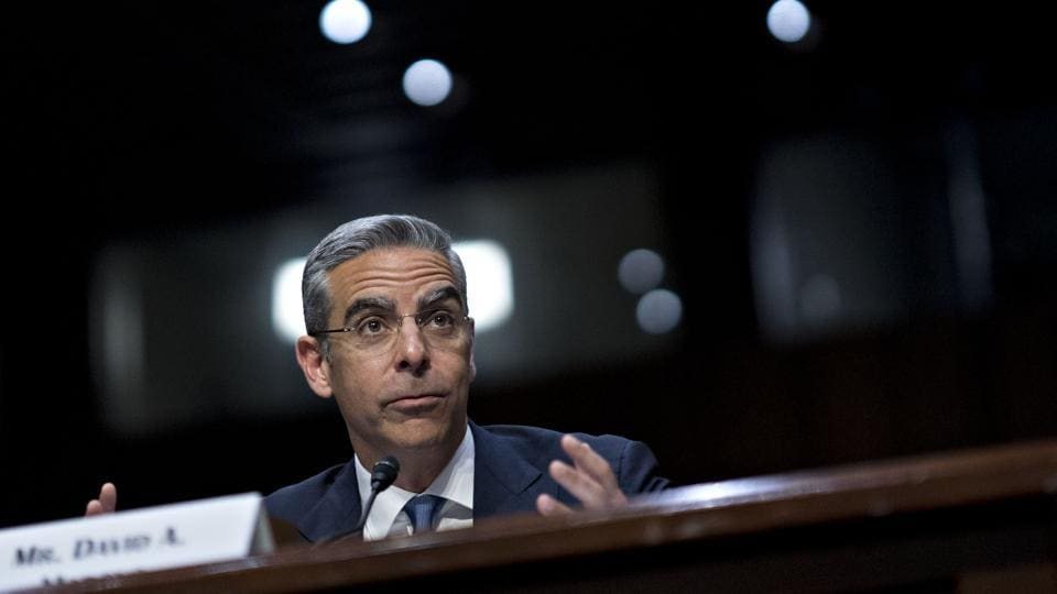 David Marcus, head of blockchain with Facebook Inc., speaks during a Senate Banking Committee hearing in Washington, D.C., U.S., on Tuesday, July 16, 2019. Facebook won't launch Libra, the controversial cryptocurrency it's planning to build with dozens of partner firms, until regulators' concerns are fully addressed, according to Marcus. Photographer: Andrew Harrer/Bloomberg