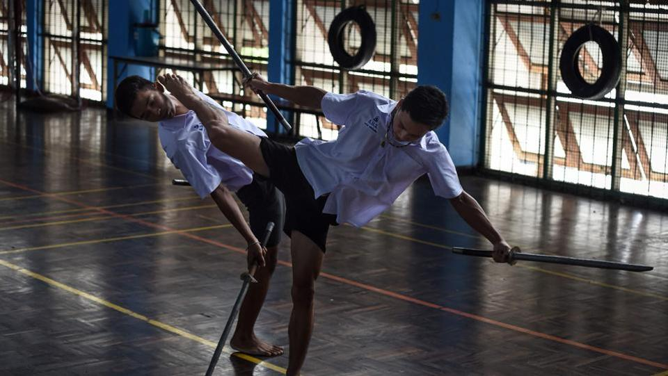 Photos: With swords and stunts, Thai youth embrace ancient martial