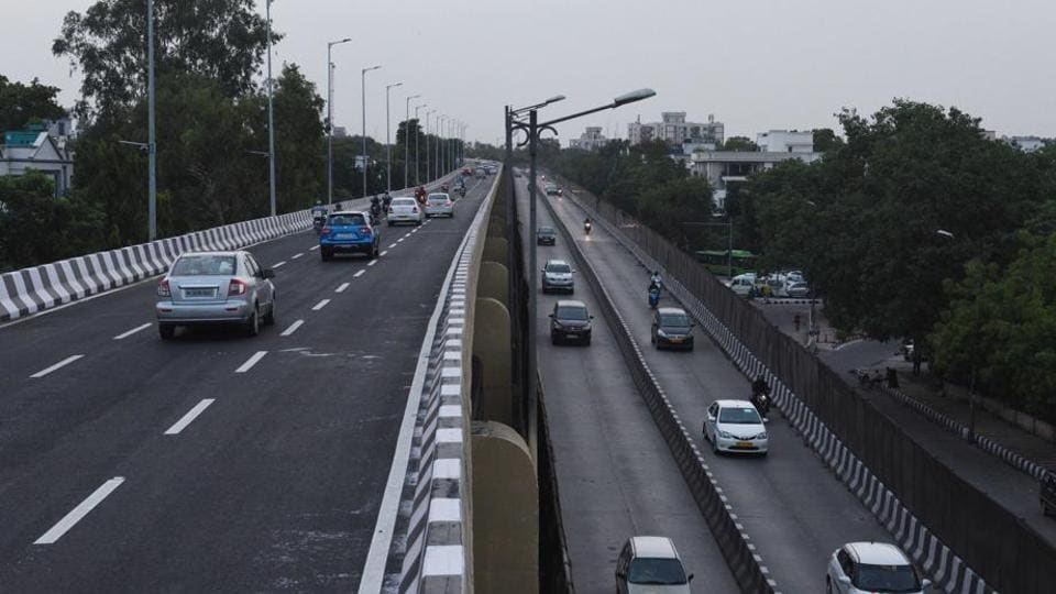 The opening of the newly constructed 2.7km Rao Tula Ram (RTR) flyover (top) has eased bottlenecks on Outer Ring Road.