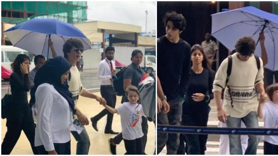 Shah Rukh Khan takes kids AbRam, Suhana and Aryan Khan for a vacation in Maldives ahead of The Lion King, see pics