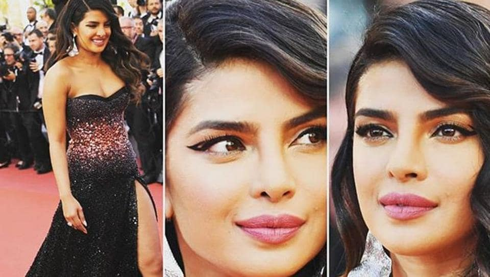 Priyanka Chopra Jonas shimmers in a customised black Roberto Cavalli gown at Cannes.