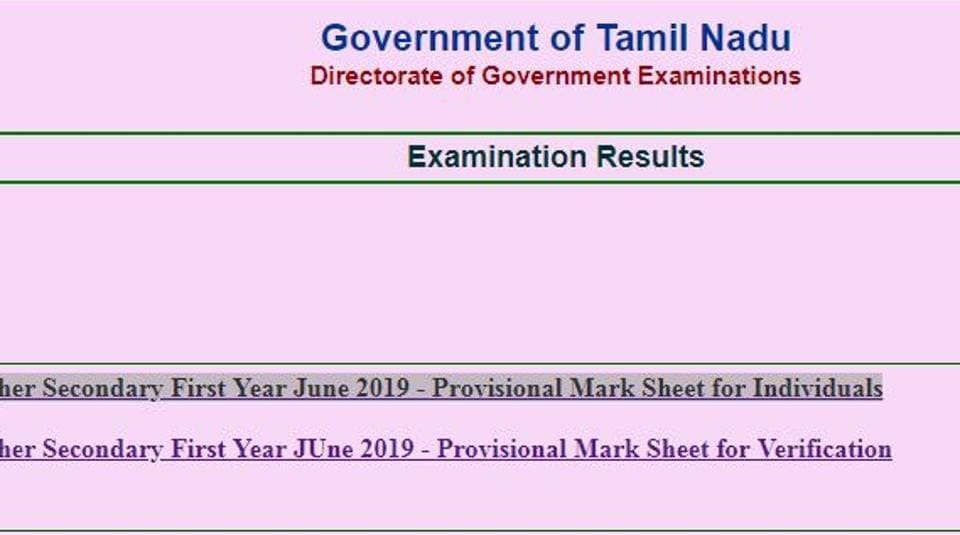 Tamil Nadu TN +1 supplementary result 2019 declared, know steps to
