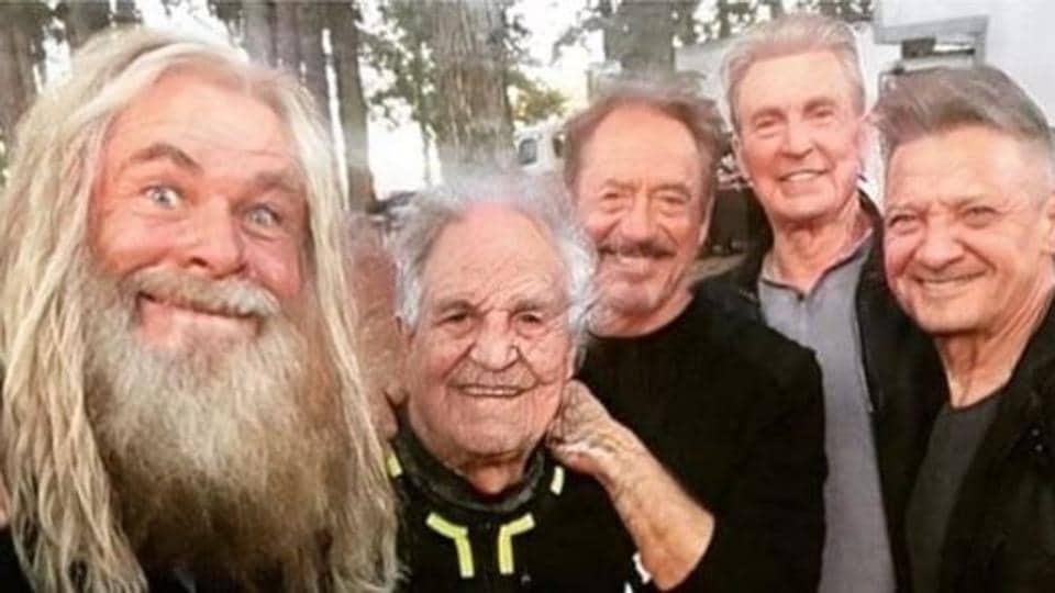 Avengers: Endgame actors Chris Hemsworth, Mark Ruffalo, Robert Downey Jr, Chris Evans and Jeremy Renner.
