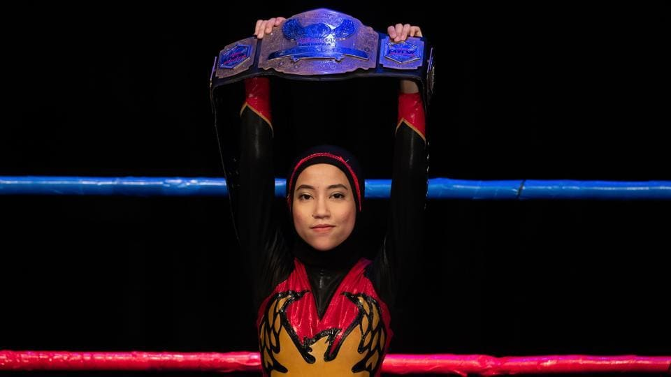 The hijab-wearing Malaysian wrestler known as Nor